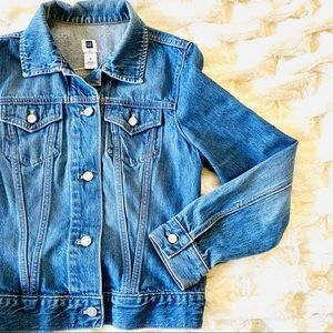 GAP Denim Blue Jean Jacket Medium